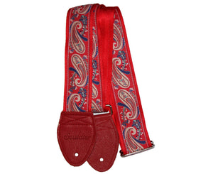 "Souldier 2.0"" Paisley Red Custom Guitar Strap Guitar Straps Souldier"