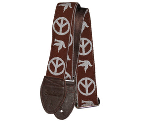 "Souldier 2.0"" Peace ""Neil Young"" Brown Custom Guitar Strap - Megatone Music"