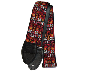 "Souldier 2.0"" Woodstock - Jimi Hendrix 1969 Guitar Strap  Red - Megatone Music"
