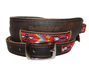 Souldier Vintage Brown Leather Saddle Strap - The Thunderbird - Megatone Music