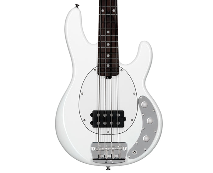 Sterling SSRAY4 Short Scale Ray 4 Bass Olympic White