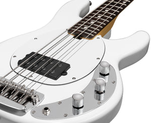 Sterling SSRAY4 Short Scale Ray 4 Bass Olympic White - Megatone Music