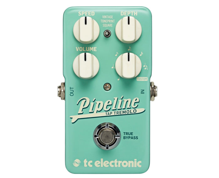 TC Electronic Pipeline Tap Tempo Tremolo Effects Pedal