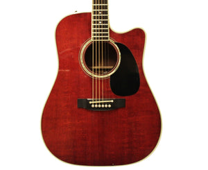 Takamine FP325SRCA Acoustic-Electric Guitar Trans Red MIJ 1992 - Very Rare! - Megatone Music