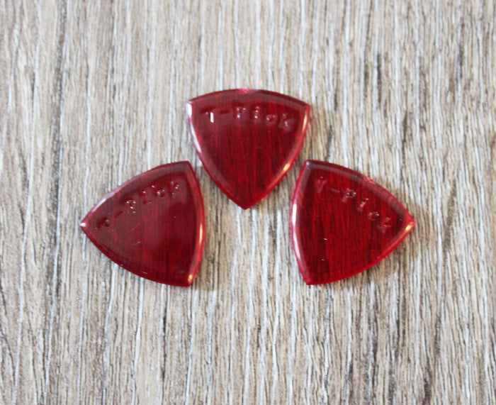 V-Picks Ruby Red Small Pointed Custom Guitar Pick 2.75mm 3-Pack