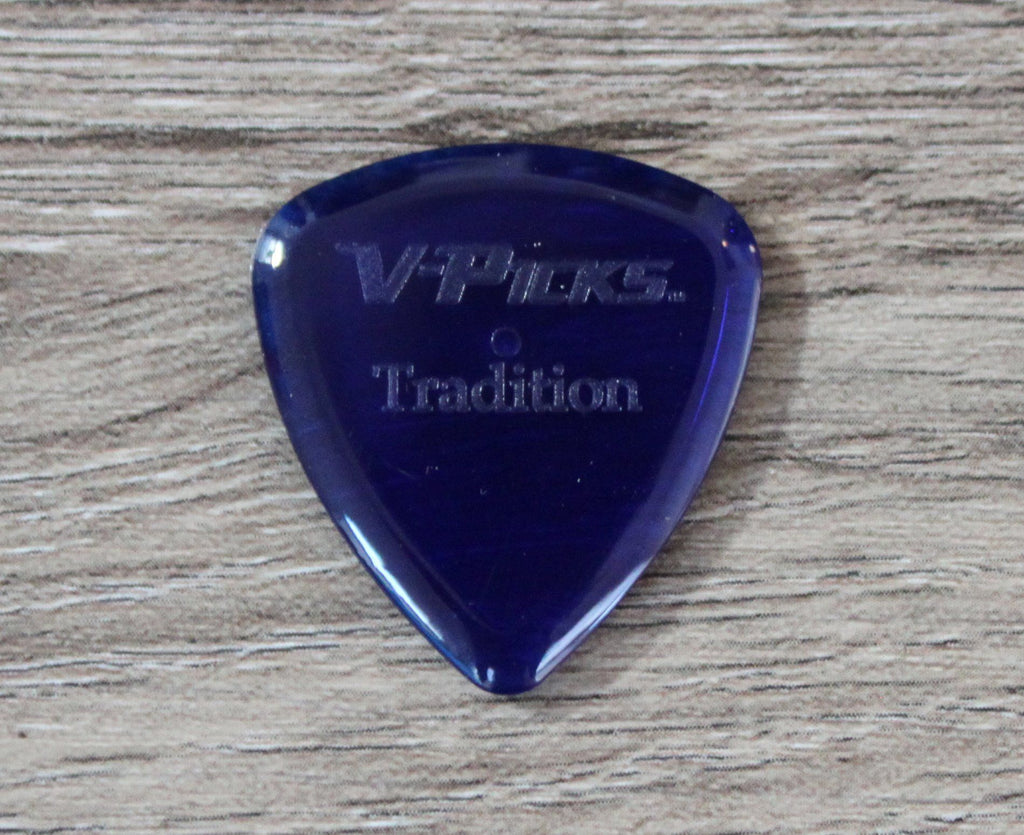 V-Picks Sapphire Tradition 2.75mm Clear Custom Guitar Pick - Megatone Music