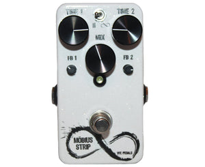 VFE Pedals Mobius Strip Dual Delay Effects Pedal in White Sparkle Delay VFE