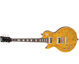 Vintage Icon Series LV100AFD Paradise Flame Maple LP Style Left-Handed Electric Guitar Electrics Vintage Reissue