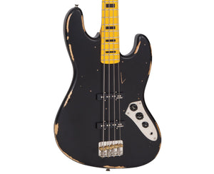 Vintage Icon VJ74MRBK Jazz Bass in Black