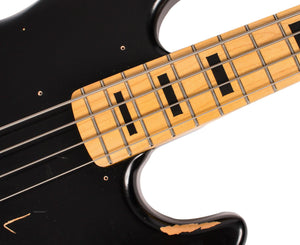 Vintage Icon VJ74MRBK Jazz Bass in Black Bass Vintage Reissue