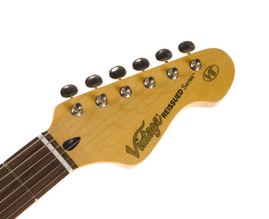 Vintage Reissued V6HFTB Flamed Tobacco Burst Strat Style Electric Guitar - Megatone Music
