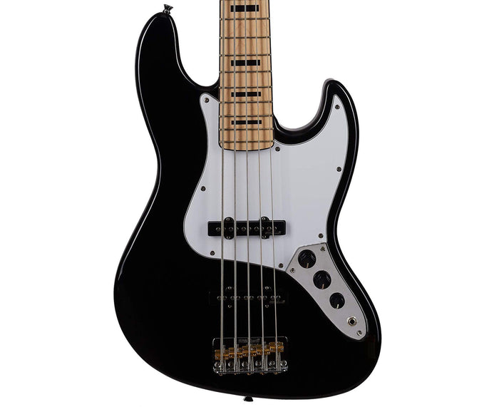 Vintage Reissue VJ75BK Deluxe 5-String J-Bass in Gloss Black