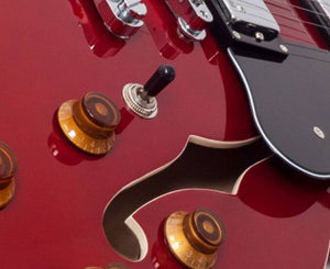 Vintage Reissue VSA500CR Semi-Hollow Electric Guitar in Cherry Red Electric Vintage Reissue