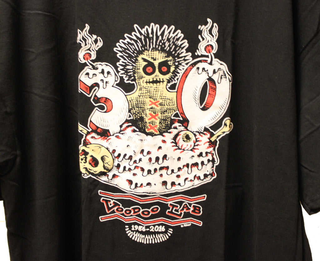 New! Voodoo Lab 30th Anniversary T-Shirt 2016 - Megatone Music