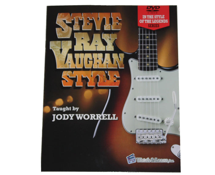 Watch and Learn Stevie Ray Vaughan / SVR Book and 2 DVD Set