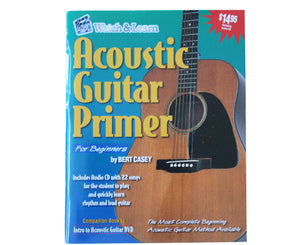 Watch and Learn Acoustic Guitar Primer for Beginners - Megatone Music