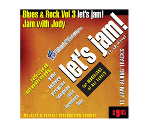 Watch and Learn Let's Jam Blues and Rock Vol. 3 - Jam along Tracks - Megatone Music