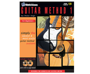 Watch and Learn Guitar Method 1 Book and CD - Megatone Music
