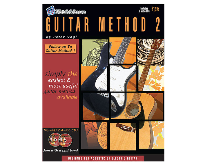 Watch and Learn Guitar Method 2 Book and Double CD