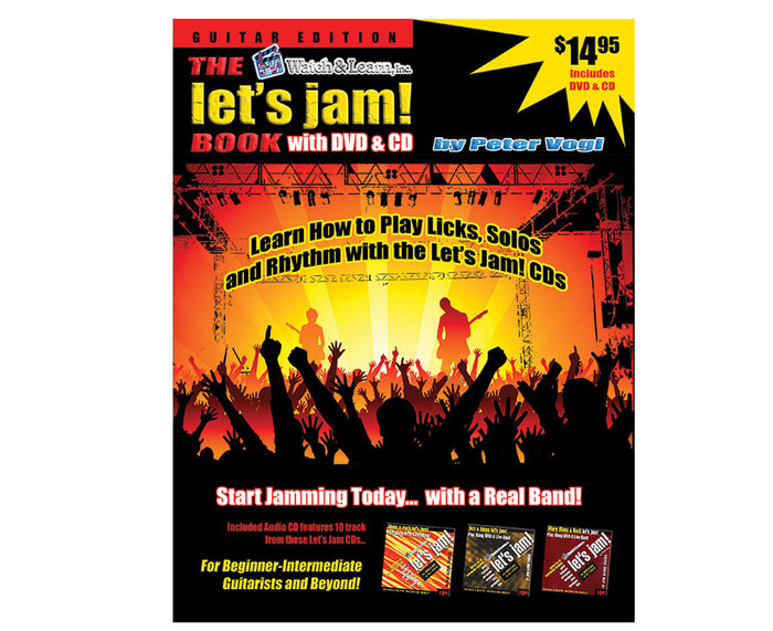 Watch and Learn Let's Jam Book, CD and DVD