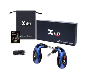 Xvive U2 Rechargeable Compact Digital Wireless Guitar System in Blue - Megatone Music