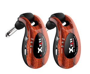 Xvive U2 Rechargeable Compact Digital Wireless Guitar System in Wood - Megatone Music
