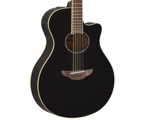 Yamaha APX600 BL Thinline Cutaway Acoustic Guitar in Gloss Black - Megatone Music
