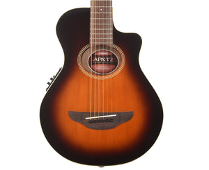 Yamaha APXT2 OVB 3/4 Thinline Cutaway Acoustic-Electric Guitar in Old Violin Burst - Megatone Music