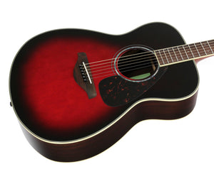 Yamaha FS830 DSR Solid Top Acoustic Guitar, Dusk Sun Red - Megatone Music
