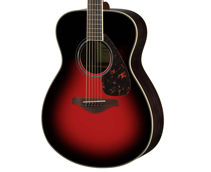 Yamaha FS830 DSR Solid Top Acoustic Guitar, Dusk Sun Red