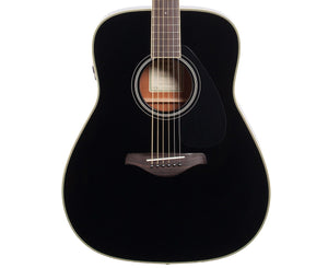 Yamaha FG-TA Transacoustic Acoustic-Electric Guitar in Black - Megatone Music