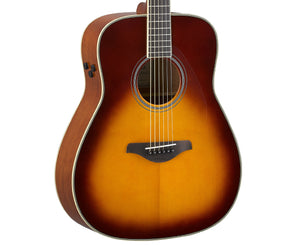 Yamaha FG-TA Transacoustic Acoustic-Electric Guitar in Brown Sunburst