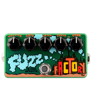 Zvex Fuzz Factory Hand-Painted Bass or Guitar Fuzz Pedal - Megatone Music