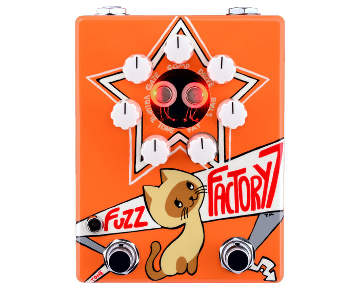 Zvex Fuzz Factory 7 Russian Hand-Painted Bass or Guitar Fuzz Pedal