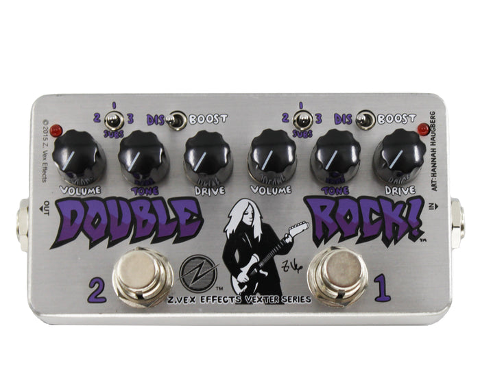 Zvex Vexter Double Rock Distortion Pedal | J. Mascis Dinosaur Jr.