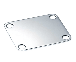 Allparts Chrome Neckplate for Guitar or Bass Neckplate Allparts