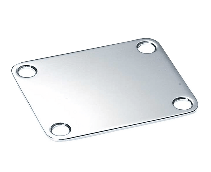 Allparts Chrome Neckplate for Guitar or Bass