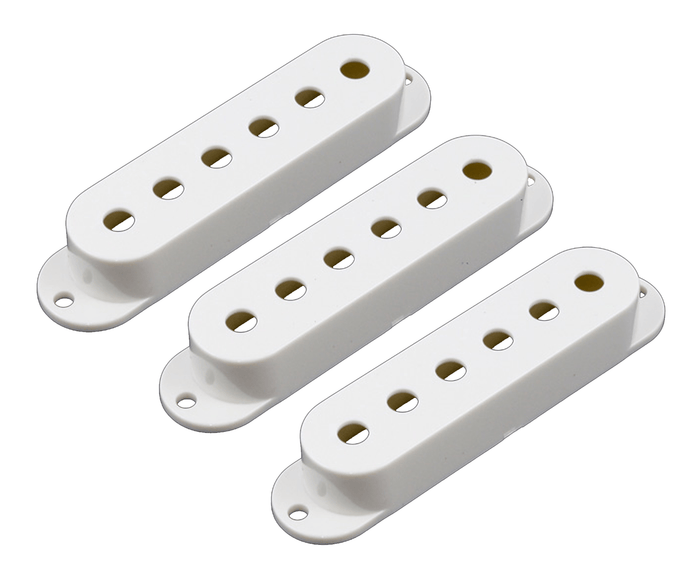 Allparts Set of 3 Pickup Covers for Stratocaster, White