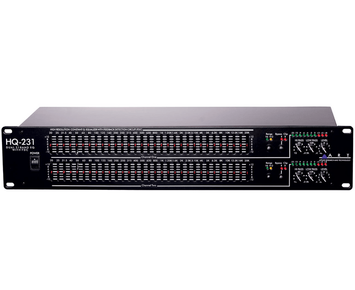 ART HQ231 Pro Dual 31 Band EQ Graphic Equalizer