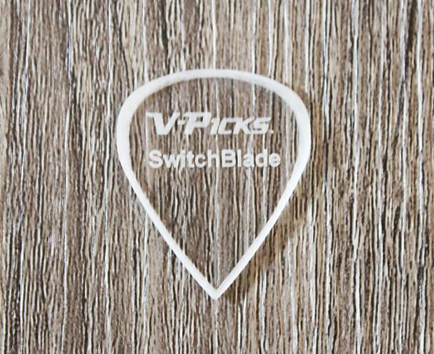 V-Picks Switchblade Ghost Rim Custom Guitar Pick 1.5mm