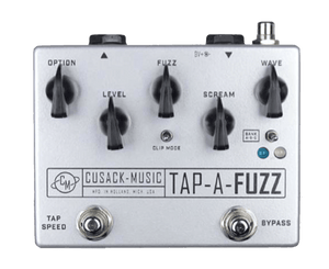 Cusack Music Tap-A-Fuzz Overdrive and Fuzz Effect Combined Fuzz Cusack