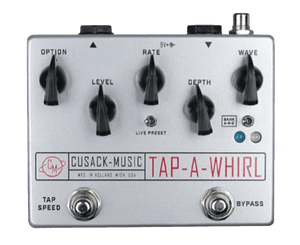 Cusack Tap-A-Whirl V3 Tremolo Effects Pedal - Megatone Music