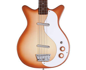 Danelectro '59 DC Long Scale Bass Guitar In Copper Burst Bass Guitars Danelectro