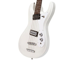 Danelectro '64 Electric Bass Guitar in White Pearl Bass Guitars Danelectro