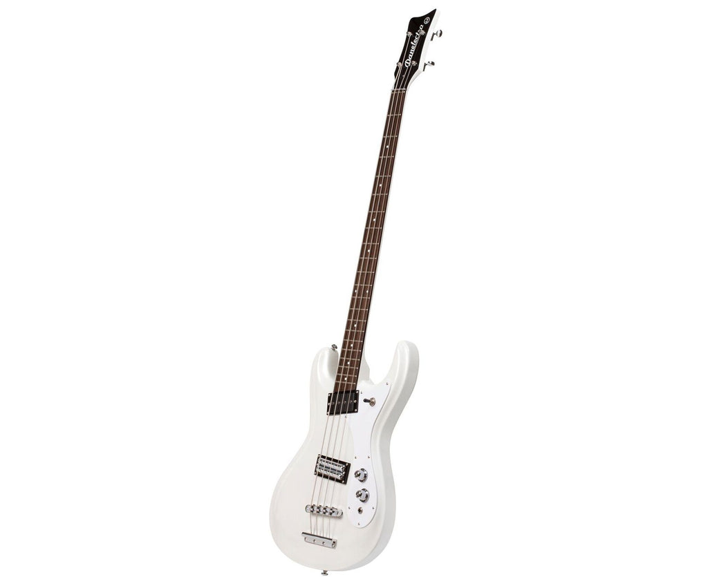 Danelectro '64 Electric Bass Guitar in White Pearl - Megatone Music