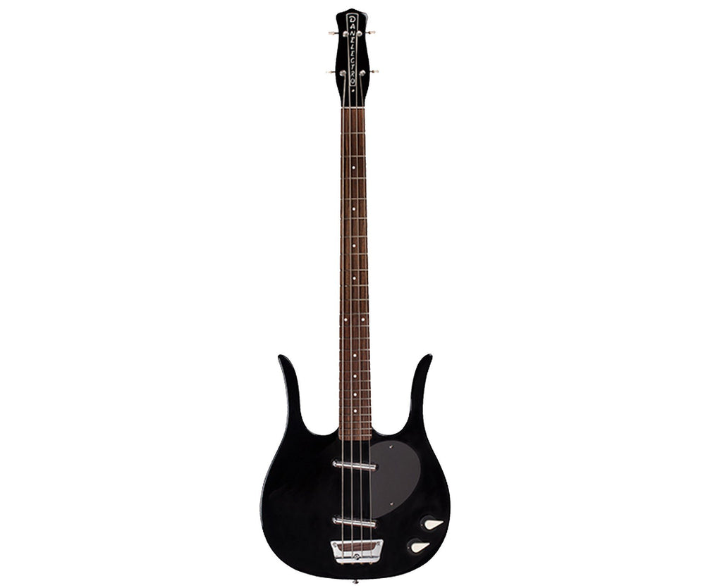 Danelectro Longhorn Bass Guitar in Black - Megatone Music
