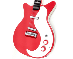 Danelectro '59M-NOS+ Electric Guitar in Red Electric Danelectro