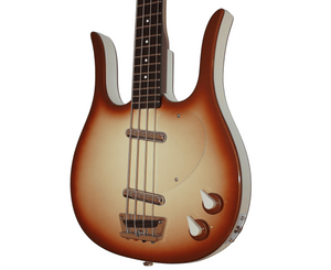 Danelectro Longhorn Bass Guitar in Copper Burst - Megatone Music
