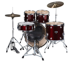 ddrum D2 Complete 5-Piece Drum Kit w/Cymbals in Blood Red - Megatone Music