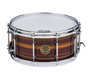 ddrum Dios 14 x 6.5 Maple Zebra Lacquer Striped Snare Drum Snare Drum DDrum